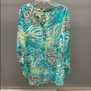 Chico's summer style printed tunic